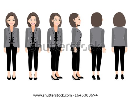 cartoon character with business