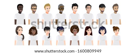 cartoon character with men and