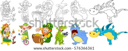 cartoon characters set