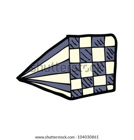 cartoon checker board design doodle