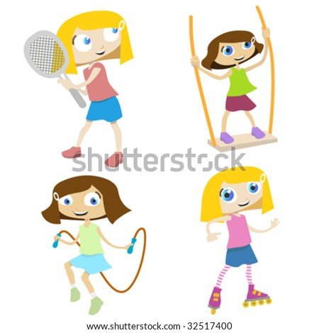 cartoon images of children playing. stock vector : cartoon children playing