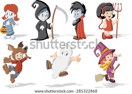 cartoon children wearing