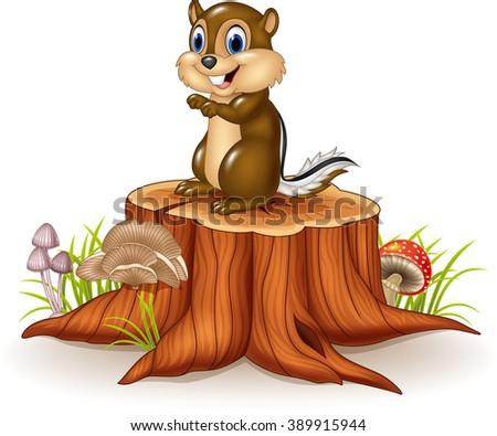 cartoon chipmunk sitting on