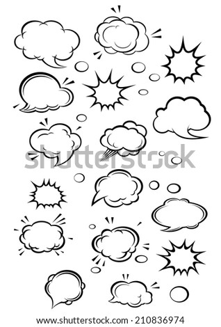 stock-vector-cartoon-clouds-and-speech-bubbles-set-for-comics-design