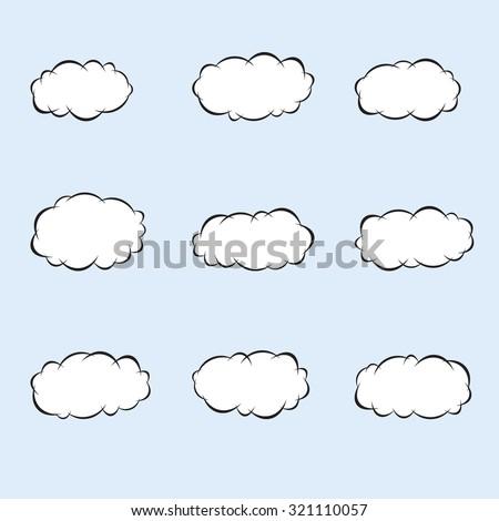 cartoon clouds vector cartoon