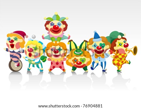 cartoon clown card