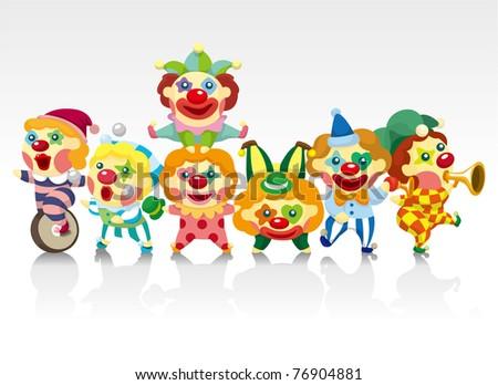 cartoon clown card