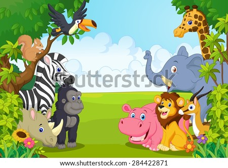 cartoon collection animal in