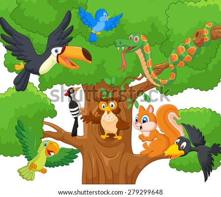 cartoon collection animal on