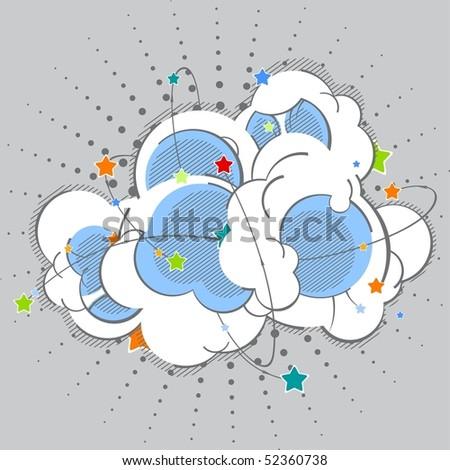 Cartoon color explosion - stock vector