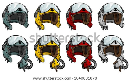 cartoon colorful aviator pilot