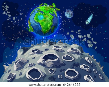 cartoon colorful space