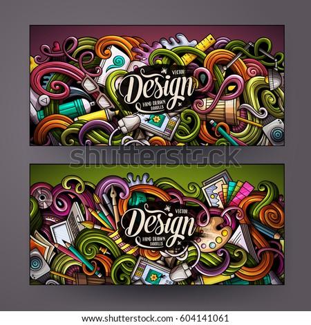 cartoon colorful vector hand