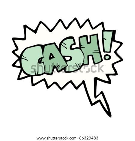 cartoon comic book shout for cash