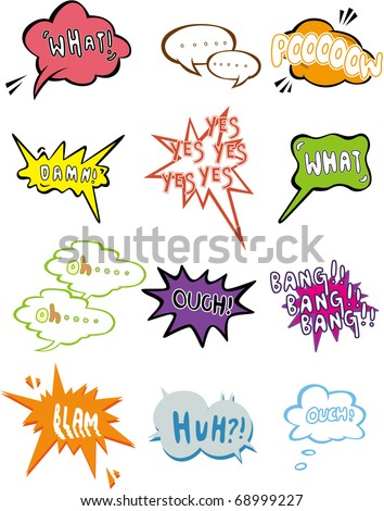 cartoon comic speech icon