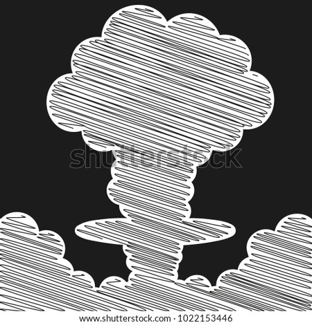cartoon comic style nuclear