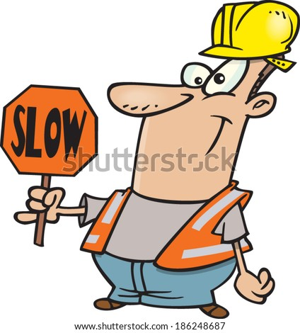 Cartoon Construction Signs Cartoon Construction Worker