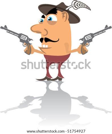 Cartoon CowBoy - stock vector