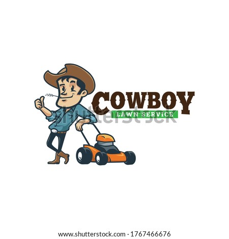 cartoon cowboy vintage retro