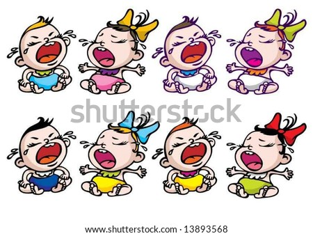 cartoon images of people crying. stock vector : cartoon crying baby