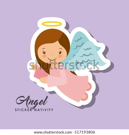 cartoon cute angel character