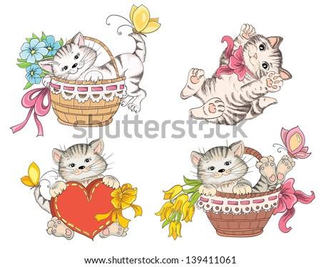 cartoon cute cat