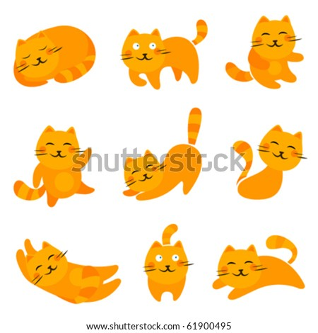 cartoon cute cats