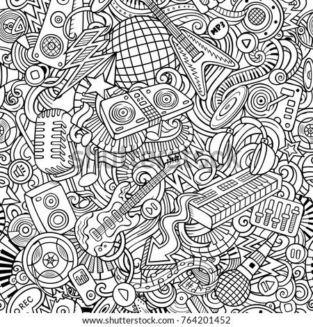 cartoon cute doodles disco