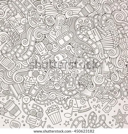 cartoon cute doodles hand drawn