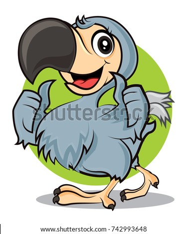cartoon cute happy dodo bird