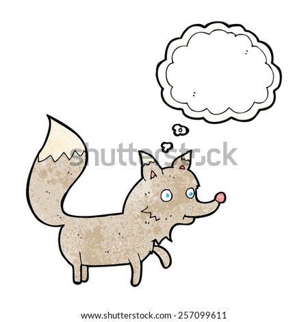 cartoon cute little wolf