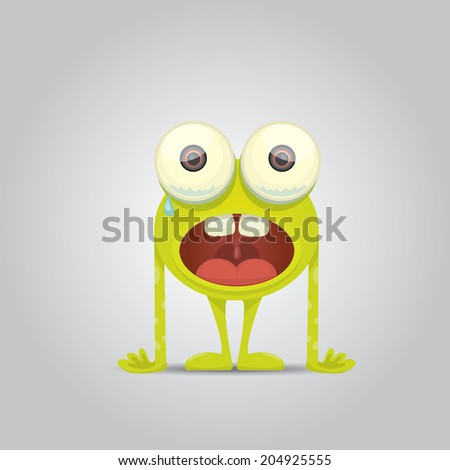 cartoon cute monster