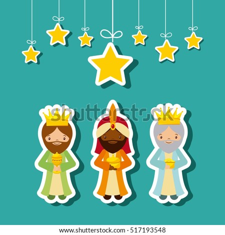 cartoon cute three wise men