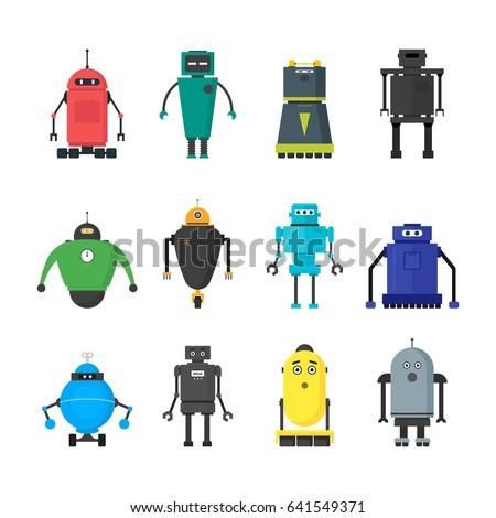 cartoon cute toy robots color