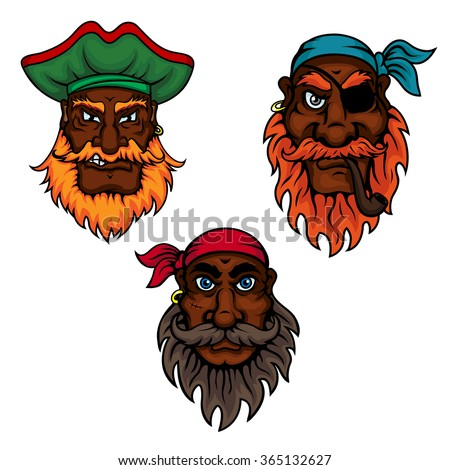 cartoon dark skinned bearded
