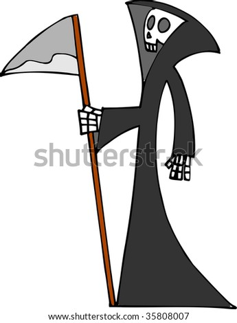 cartoon death reaper