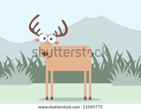 stock vector : Cartoon Deer