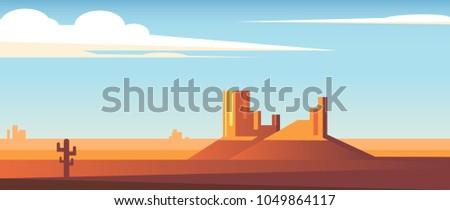 cartoon desert wide landscape