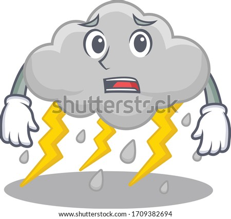 cartoon design style of cloud