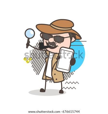 cartoon detective inspector