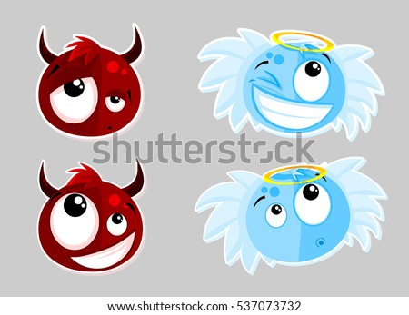 cartoon devil and angel
