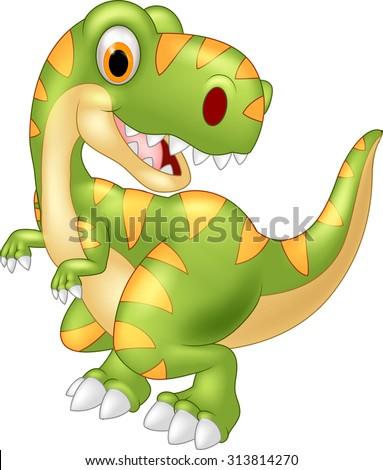 cartoon dinosaur tyrannosaurus
