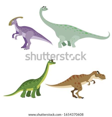 cartoon dinosaurs set