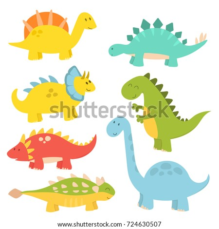 cartoon dinosaurs vector