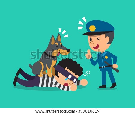 cartoon doberman dog helping