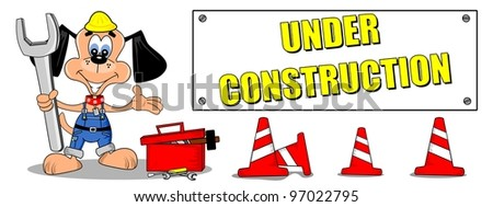 Cartoon Construction Signs Under Construction Sign