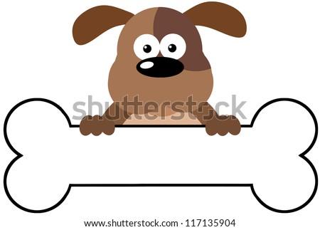 Cartoon Pictures of Dog Bones Cartoon Dog Over a Bone Banner
