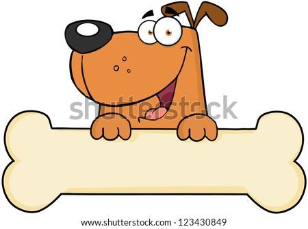 Cartoon Pictures of Dog Bones Cartoon Dog Over Bone Banner
