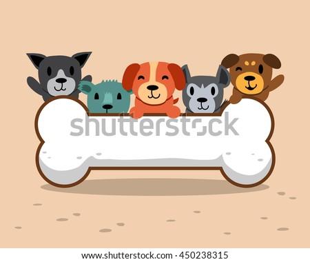stock-vector-cartoon-dogs-with-big-bone
