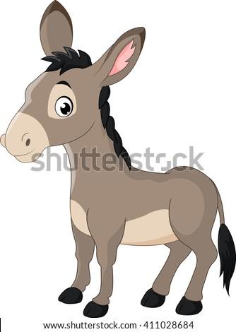 cartoon donkey smile and happy ストックフォト ©